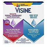 Visine Red Eye Total Comfort Multi-Symptom & Dry Eye Relief Lubricant Eye Drops, 2 Items
