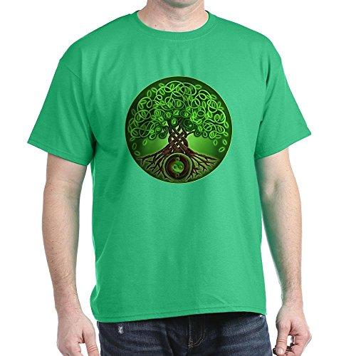 CafePress Circle Celtic Tree of Life Dark T Shirt 100% Cotton T-Shirt Kelly Green