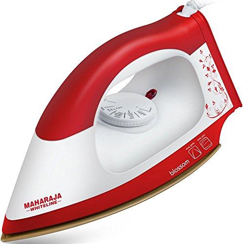 Maharaja Whiteline Blossom DI- 113 1000-Watt Dry Iron (Red)