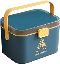 Cabilock Pudełko do przechowywania lekarstw domowych, wielowarstwowe pudełko na tabletki, przenośne pudełko na lekarstwa