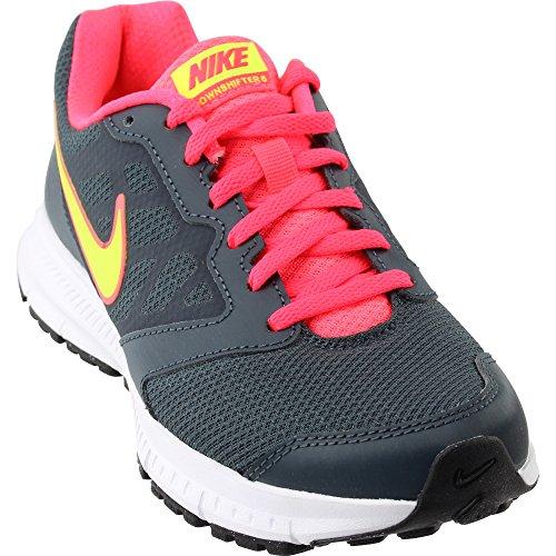 Nike Women's Downshifter 6 Tennis Shoe (11, Grey/Punch/Volt)