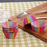 Shoplifemore Copas para hornear, arco iris, para el hogar, horno, boda, fiesta, cumpleaños, 400 unidades