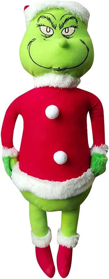 JAWSEU Muñeca de Navidad Cómo El Geek Robó Un Peluche de Niños, Juguetes de Peluche de Navidad Muñeca de Felpa de Navidad Grin-ch Suave para Niños Regalo de Cumpleaños 60cm