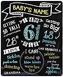 Pearhead Baby-Meilenstein-Tafel enthält Alter, Gewicht, Größe, Favoriten und mehr
