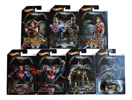 2016 Hot Wheels Batman Vs. Superman Cars Set Of 7 Wonder Woman
