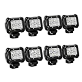 Nilight - 60001F-D LED Light Bar 8PCS 4Inch 18W LED Bar...