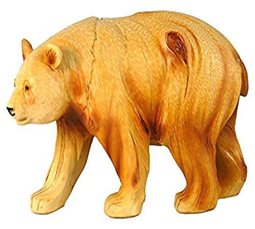 StealStreet ss-ug-mme-934, 6Inch Walking Panda para tallar Madera sintética Figura Decorativa, marrón
