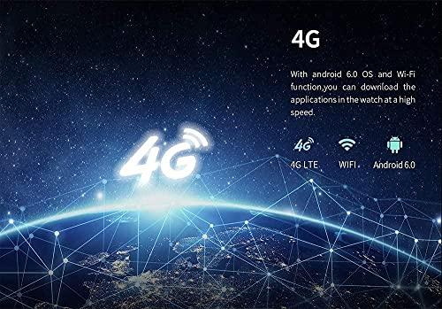 Reloj inteligente KC03 1 3 pulgadas pantalla Android MTK6737 GPS WIFI Bluetooth Frecuencia Cardíaca Smartwatch 4G Control Remoto Impermeable Pulsera Gris