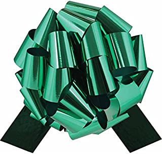 Big Metallic Emerald Green Gift Bow - 12