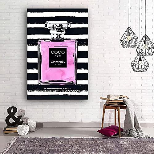 ZYQYQ pintura en lienzo con perfume rosa moda para mujer pintura artística impresa para mujer cuadros de pared para sala de estar decoración del hogar 40x60 cm sin marco