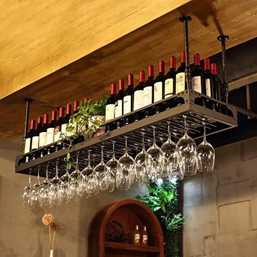 Retro-industriële stijl van smeedijzer, voor deur/voor het ophangen van wijn/rek, zwart, L20.02.04