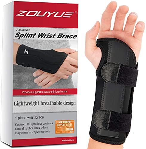 ZOUYUE Wrist Support Brace,Adjustable Breathable Carpal Tunnel Wrist Splint...