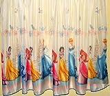 Disney just contempo cortina/panel de princesas - ancho 150 cm/149,86 cm x drop 160 cm diseño de rayas verticales