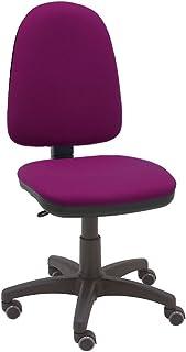 comprar comparacion La Silla de Claudia - Silla giratoria de escritorio Torino magenta para oficinas y hogares ergonómica con ruedas de parquet