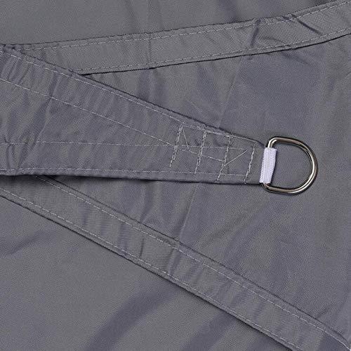 WJQQ Toldo Vela de Sombra Triangular 2 X 2 X 2m Impermeable a Prueba de Viento Protección Rayos UV Resistente y Transpirable para Patio Exteriores Jardín