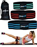 Booty Squat Leg Fabric Resistance Bands Gym Workout Equipment for Home - Butt Glutes Thigh Exercise Workout Bands for Women – Set of 3 Non Slip Butt Hip Bands for Warm-Up Men
