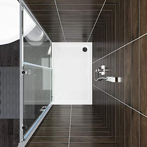 1000 x 900mm Sliding Shower Door Modern Bathroom 8mm Easy Clean Glass Shower Enclosure Cubicle Door with Shower Tray and Waste