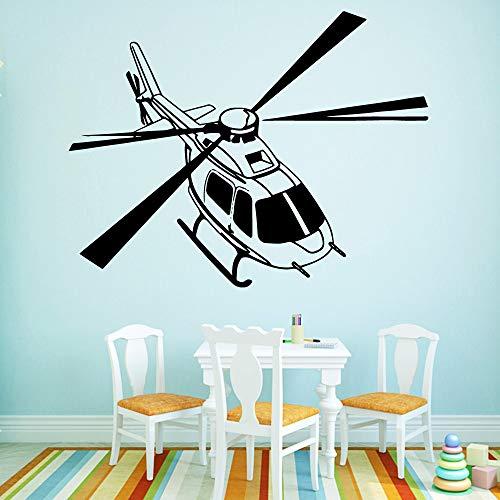 BailongXiao Hubschrauber Wandaufkleber Dekorativer Aufkleber Wohnaccessoires Aufkleber auf Küchenwandbild 45x58cm