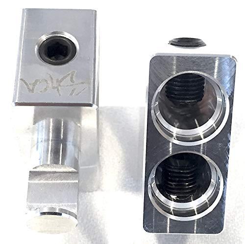 Pair of Sky High Car Audio Dual 1/0 Gauge to 1/0 Gauge Amp Input Reducers