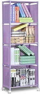 Bookcases Bookshelf Bibliothèque à 4 étages Bibliothèque étagère de rangement vêtement Organisateur compartiment Étagère É...