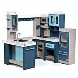 Step2 Grand Walk-in Wooden Kitchen | Large Wood Play Kitchen & Toy Accessories Set | Wood Play Kitchen for Kids
