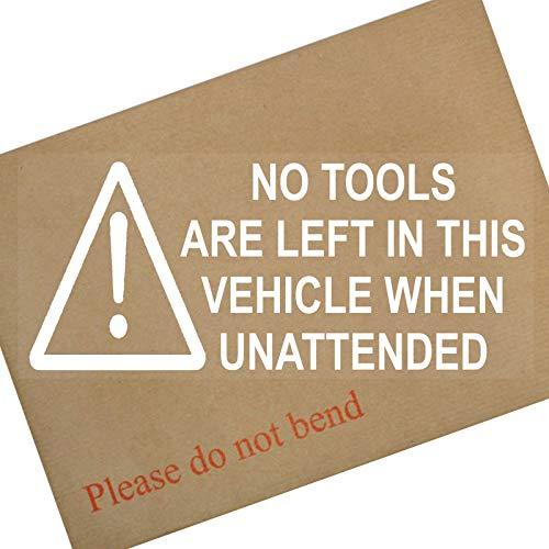 Platina Plaats 2 x Geen Gereedschap Zijn Links In Dit Voertuig Wanneer Unattended-200mm Window Security Stickers-Car, Van,Truck,Taxi,Mini Cab,Bus,Coach Signs