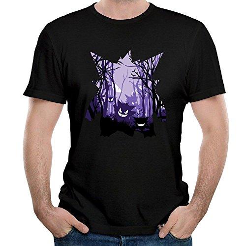 HAIZHENY Herren Ghastley Haunter Gengar 7 Cotton T-Shirt Tee X-Large