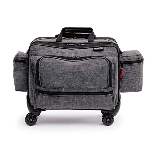Hopkins Medical Products 4-Wheel Antimicrobial Rolling Medical Bag for Nurses and Home Healthcare