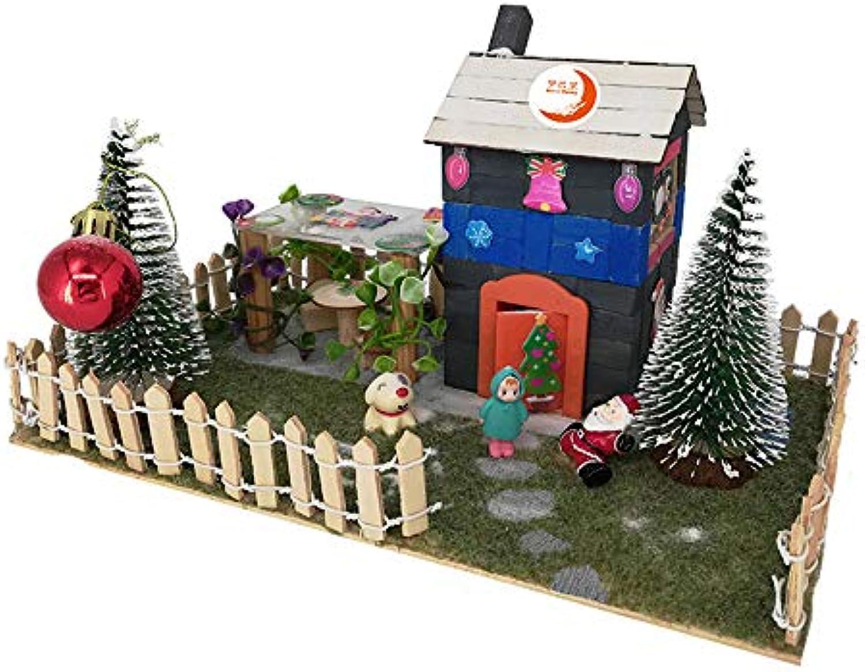 Pdagogisches Spielzeug DIY Bausteine Montiert Kreative Pdagogische DIY Weihnachten Cottage Kurs Gebude Modell Spielzeug Geburtstagsgeschenk Kreative Geschenk für Jungen und Mdchen Geburtstagsges
