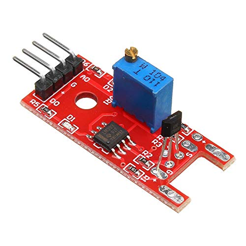 ZHQHYQHHX 5PCS KY-024 4pin Linear Magnetic Switch For Arduino Speed Counting Hall Sensor Module Relay Module