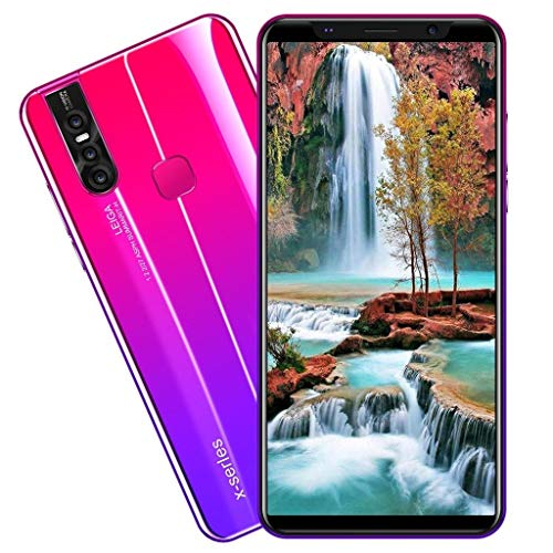 Unlocked Smartphone,2021 New X27 Plus 5.8 Inch 8 Core Dual HD Camera Android 8.0 4G ROM Dual SIM Call Water Drop Touch Screen Mobile Phone Cell Phone (Red)