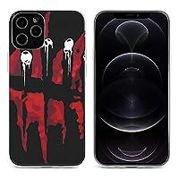Dead By Daylight iPhone 12&iPhone 12 Pro&iPhone 12Pro Max&iPhone 12 miniと互換性のあるクリスタルクリアTPUケース、アンチイエロー、保護耐衝撃落下保護ケース