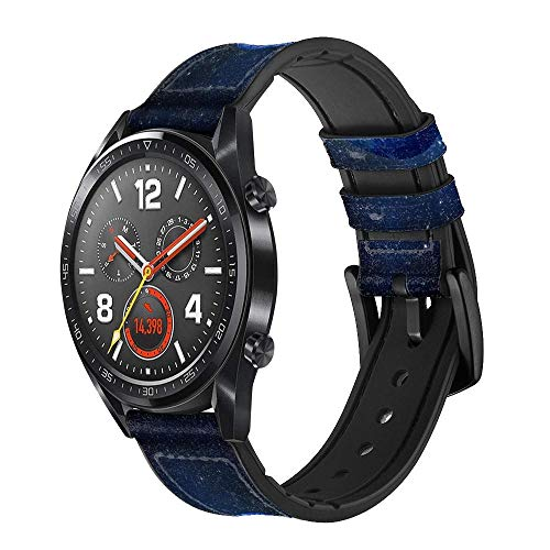 Innovedesire Blue Planet Correa de Reloj Inteligente de Cuero para Wristwatch Smartwatch Smart Watch Tamaño (18mm)