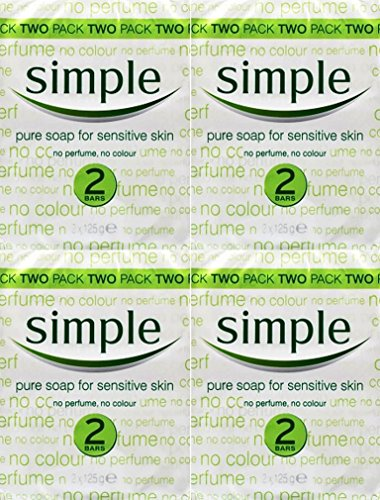 Simple Soap Bar 125g Twin Pack x 4 Packs by Simple