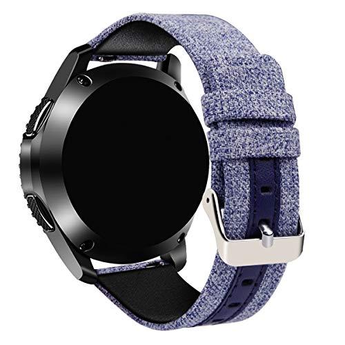 Tarask Armband kompatibel mit Huawei Watch GT/GT 2e / GT 2 (46mm) Armband Sportarmband Band Erstatzband mit Schließe (22mm, Blau)