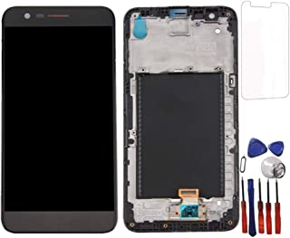 Glass LCD Display Touch Screen Digitizer Assembly + Frame for LG K20 Plus K10 2017 m250n Screen Replacement (Black)