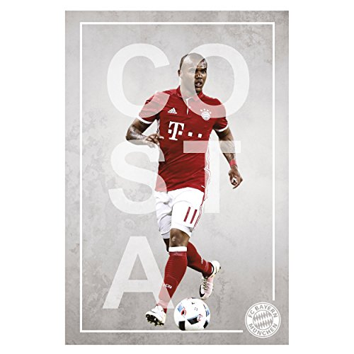 FC Bayern München Poster Spieler Costa FCB kompatibel + Aufkleber, Spielerportrait