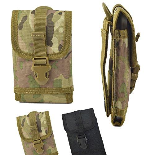 ikracase Outdoor Hülle für Caterpillar CAT S30 Smartphone Gürteltasche Schutz-Hülle Tasche Case Cover Camouflage