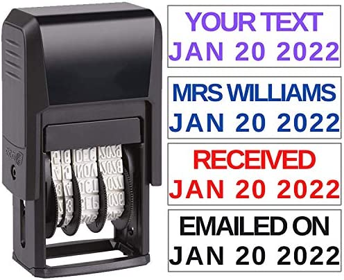 Custom Date Stamp Received Paid Completed Emailed Posted Scanned Approved Date Stamp Self Inking product image