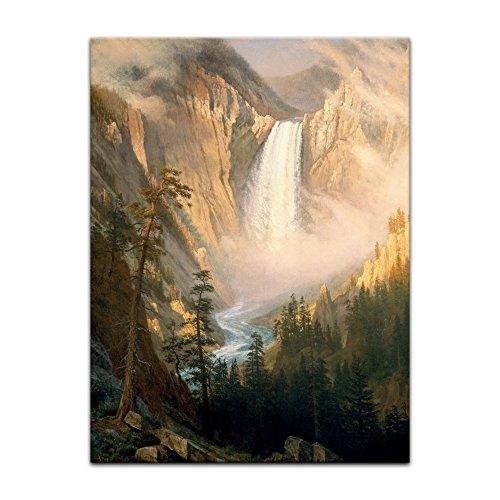 Kunstdruck Poster - Albert Bierstadt Yellowstone Falls 20x30 cm ca. A4 - Alte Meister Bild ohne Rahmen
