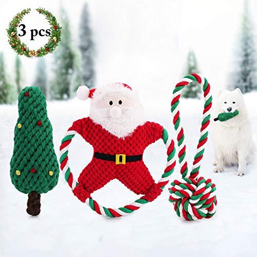 legendog 3 stuks kerstspeelgoed speelgoed dog theepot theeting speelgoed dog chew rope