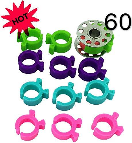 PeavyTailor Spulenklammern, 60 Stück, für Stickerei, Quilten, Nähmaschine