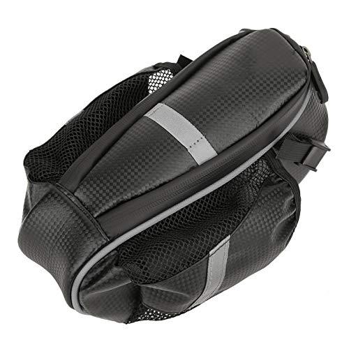 Bolsa de sillín de Bicicleta, Bolsa de Almacenamiento de Botella Trasera de Ciclismo a Prueba de Golpes para Herramientas de reparación de Bombas de Ciclismo(Black Gray)