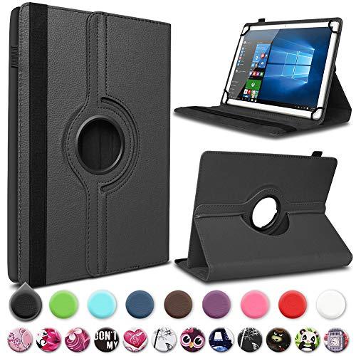 UC-Express Schutzhülle kompatibel für Archos 101 Platinum 3G Tablet Hülle Tasche Case Cover 360° Drehbar, Farbe:Schwarz