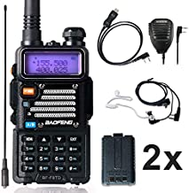 Ham Radio Baofeng Radio 8Watt UHF VHF Dual Band Baofeng Walkie Talkie with 2 Rechargeable 1800mAh Battery Handheld Radio with TIDRADIO Driver Free Programming Cable