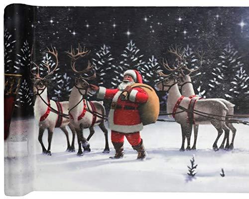 Sachsen Versand 5 Meter Tischläufer-Deco-Band Weihnachten Sterne Merry Christmas