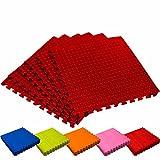 #DoYourFitness Schutzmatten Set 6X Puzzle Unterlegmatten Bodenschutz für Gymnastikräume - Matten...