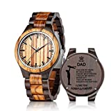 Engraved Wooden Watch for Dad from Son - Personalized Wood Watch Idea for Him Christmas Fathers Day Birthday Gifts