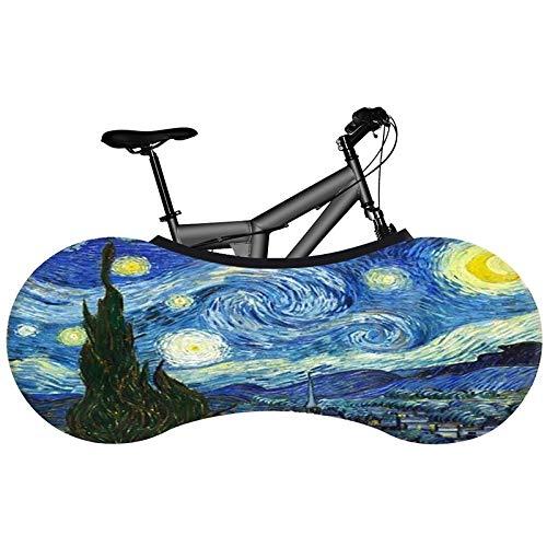 LZZDZK Serie de Pintura al óleo Cubierta de Bicicleta Tela elástica de la Bicicleta Cubierta de Polvo Interior Nueva tecnología no se desvanece (Color : 25)