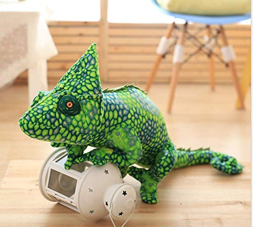 Sofachameleon Handpuppe Chamäleon Handpuppe Chameleon Spielzeug Mädchen Kissen Möbel, A 80 cm